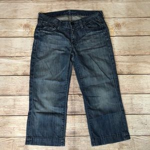 7 For All Mankind Cropped Dojo Jeans 27